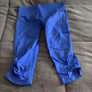 Reebok blue compression capris